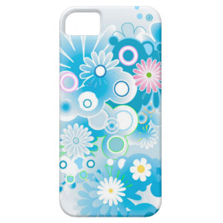Beautiful Blue Abstract Flowers iPhone 5 Case