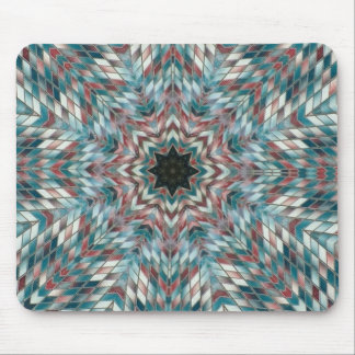 Beautiful Blue  Abstract Pattern Mouse Pad