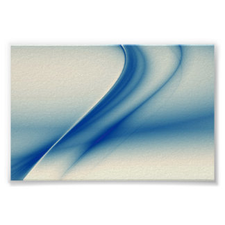 Beautiful blue abstract poster