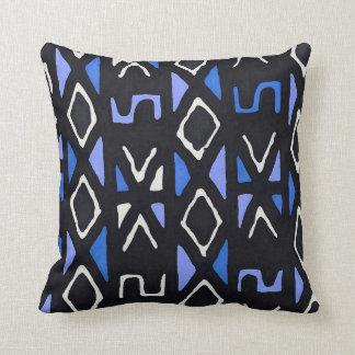 Beautiful Blue African Mudcloth Pillow
