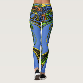 Beautiful blue amazing feminine weekend lounging leggings