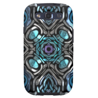 Beautiful Blue and Black Inlay Design Galaxy SIII Cases