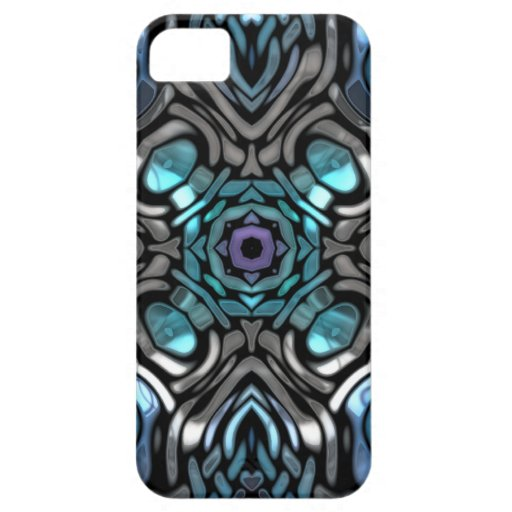 Beautiful Blue and Black Inlay Design iPhone 5 Cases