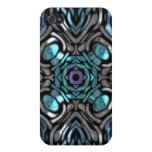 Beautiful Blue and Black Inlay Design iPhone 4/4S Case