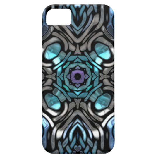 Beautiful Blue and Black Inlay Design iPhone SE/5/5s Case