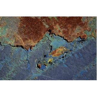 Beautiful Blue And Brown Rust (Satellite Shot) Standing Photo Sculpture