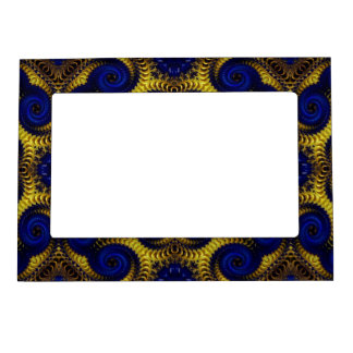 Beautiful Blue and Gold Magnetic Picture Frame