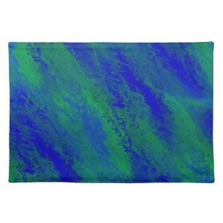Beautiful Blue and Green Forest Cloth Placemat