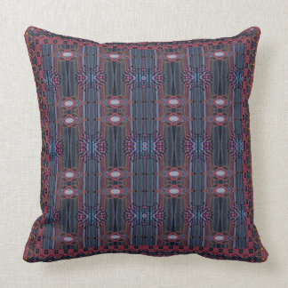 Beautiful Blue And Pink Striped Design Throw Pillow
