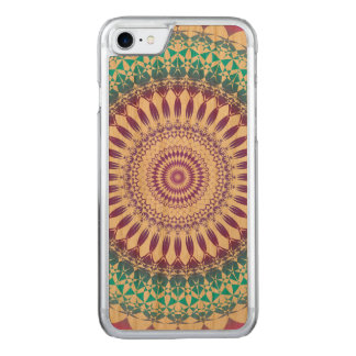 Beautiful blue and purple circle composed carved iPhone 7 case