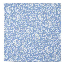 Beautiful Blue and White Floral DAmask Duvet Cover