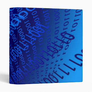 Beautiful Blue Binary Vinyl Binder