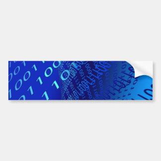 Beautiful Blue Binary Car Bumper Sticker