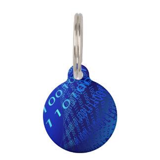 Beautiful Blue Binary Pet ID Tag