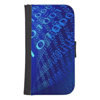 Beautiful Blue Binary Phone Wallet Case
