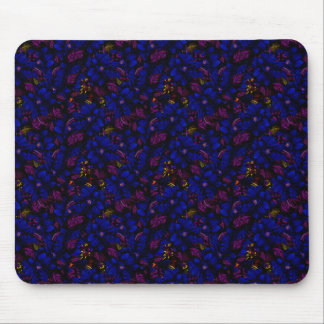 Beautiful Blue Bold Flowers Mouse Pad