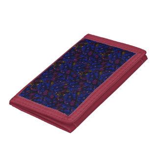 Beautiful Blue Bold Flowers Trifold Wallet