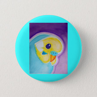 Beautiful Blue Budgie Button