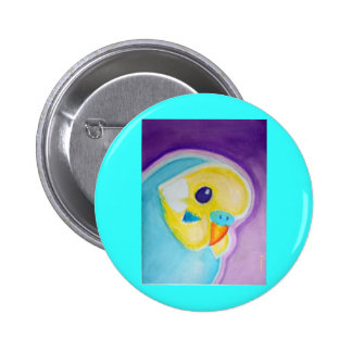 Beautiful Blue Budgie 2 Inch Round Button