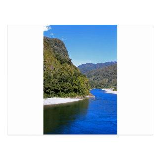 Beautiful blue Buller river Post Card
