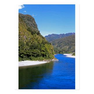 Beautiful blue Buller river Postcards