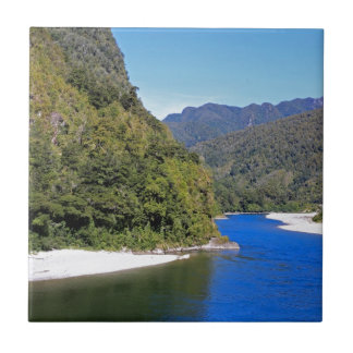 Beautiful blue Buller river Tiles