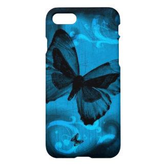 beautiful blue buterfly swirl lines vector art iPhone 7 case