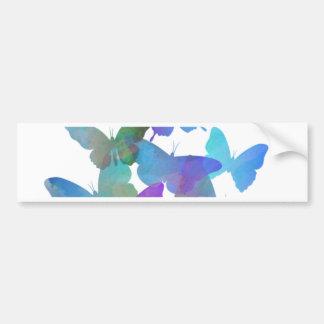 Beautiful Blue Butterflies Bumper Sticker