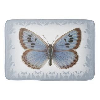 Beautiful Blue Butterfly Bathroom Mat