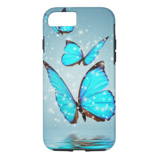 beautiful blue butterfly iPhone 7 case