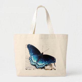 Beautiful Blue Butterfly Large Tote Bag