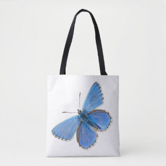 Beautiful Blue Butterfly Tote Bag