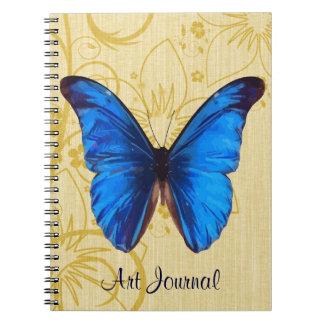 Beautiful Blue Butterfly Vintage Art Journal
