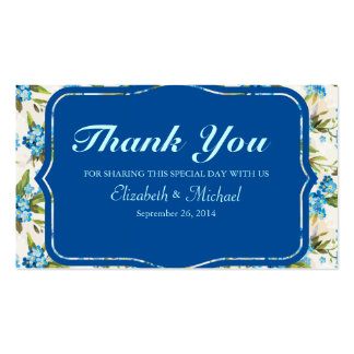Beautiful Blue Calla Lily Flower Vintage Business Card Template
