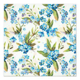 Beautiful Blue Calla Lily Flower Vintage Invitation