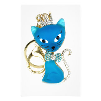 Beautiful blue cat design stationery