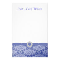 Beautiful Blue Damask Personalized Stationery