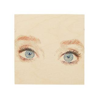 Beautiful Blue Eyes Wood Wall Art