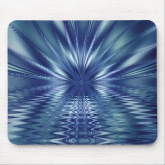 Beautiful Blue Fine Fractal Art Mouse Pad