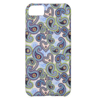 Beautiful Blue Floral Paisley Lace iPhone 5C Cases
