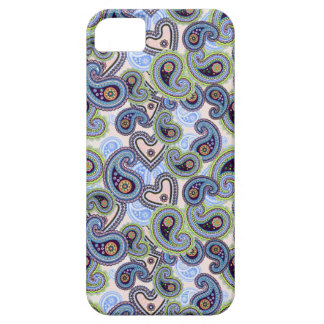 Beautiful Blue Floral Paisley Lace iPhone 5 Cover