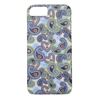Beautiful Blue Floral Paisley Lace iPhone 8/7 Case