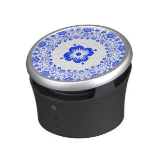 Beautiful Blue Floral Pattern Speaker