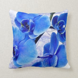 Beautiful Blue Floral Pillow