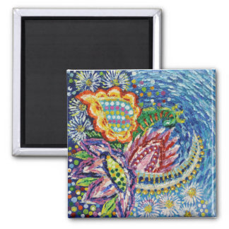 Beautiful Blue Flower 5.1cm Square Magnet