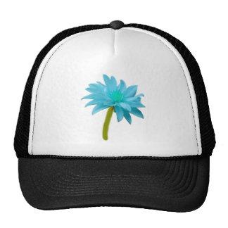 Beautiful Blue Flower Mesh Hats