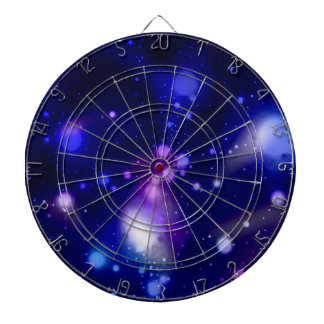 Beautiful blue galaxy 2 dart board