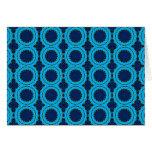 Beautiful Blue Geometric Abstract Design Card