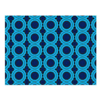 Beautiful Blue Geometric Abstract Design Postcard