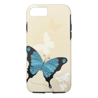 Beautiful Blue Glitter Butterfly iPhone Cover